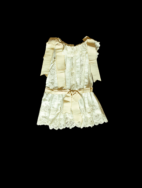 lace and silk with grosgrain ribbon  front
